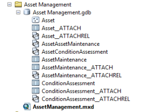 ArcMap Asset Management FCs