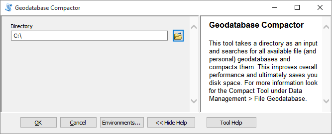 Geodatabase Compactor